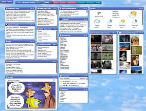 Startseite von Protopage.com
