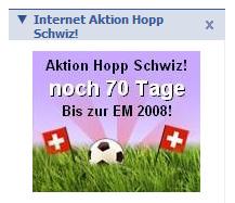 Hopp Schwiz bei Facebook